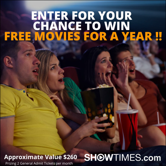 WIN FREE MOVIES FOR A YEAR Sweepstakes | Sweepstakes and Promotions | Showtimes.com