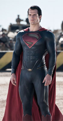 Henry Cavill standing strong as Superman in Man of Steel