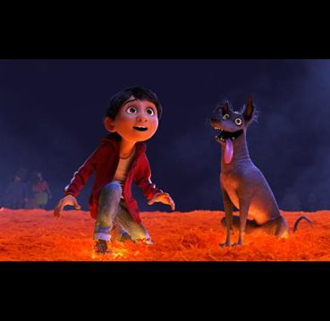 Miguel and Dante in Coco
