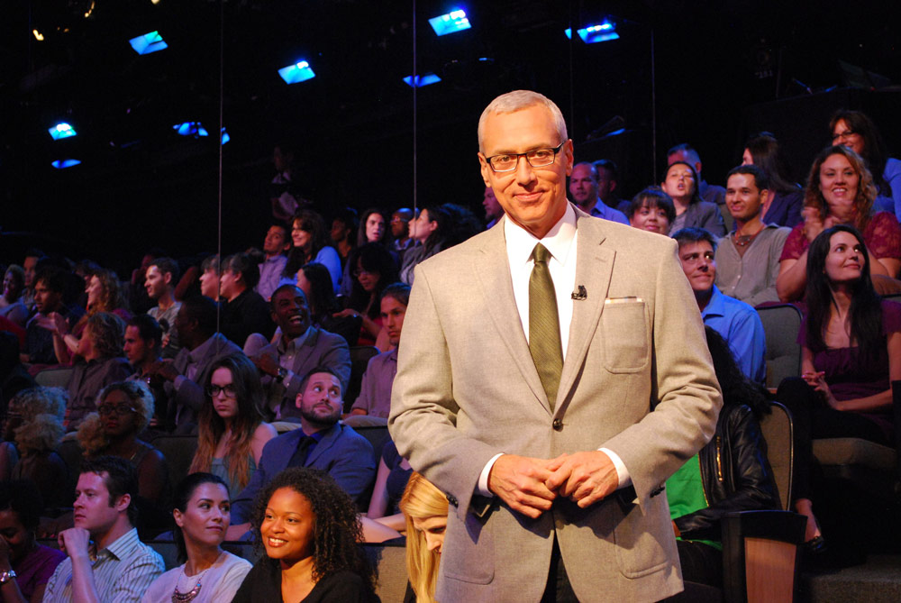 Dr. Drew with television audience. Courtesy Dr. Drew Pinsky