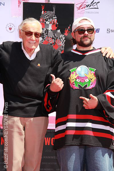 Stan Lee and Kevin Smith in 2017