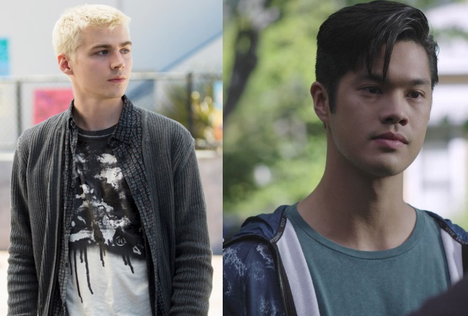 Miles Heizer (left) and Ross Butler (right) of 13 Reasons Why