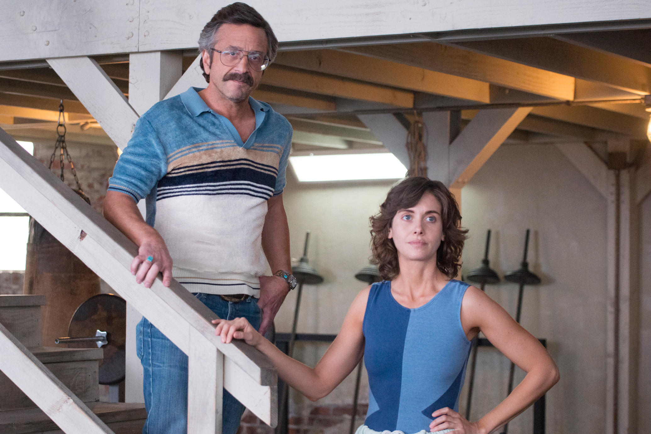 Marc Maron and Alison Brie in Netflix's GLOW
