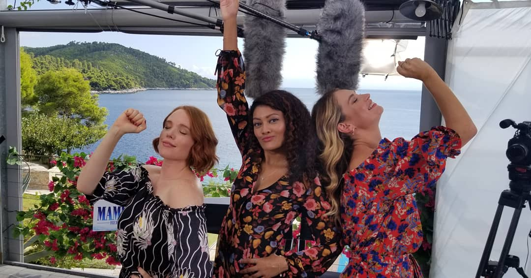 Mamma Mia! Here We Go Again - Jessica Keenan Wynn, Lily James and Marriska Fernandes