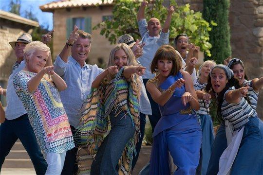 The cast dancing to Dancing Queen