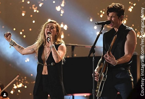 Miley Cyrus and Shawn Mendes
