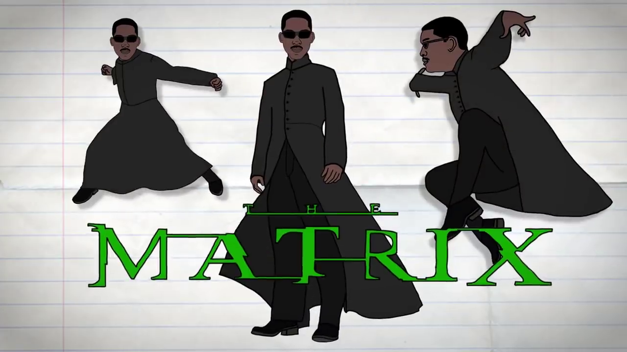 Will Smith as The Matrix