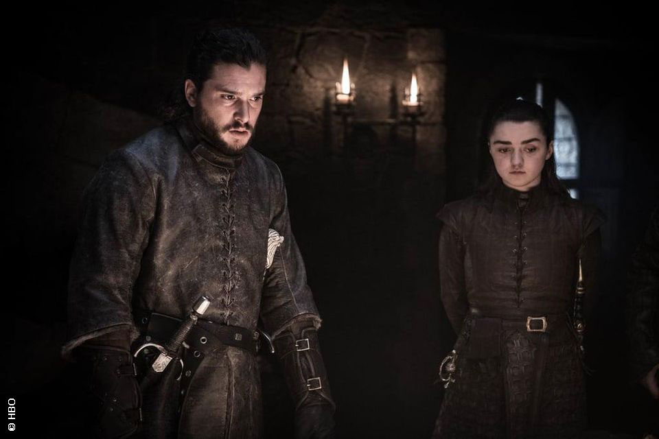 Jon Snow and Arya Stark in Game of Thrones