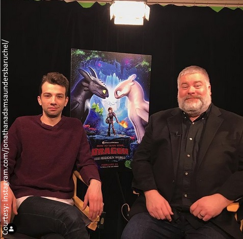 Jay Baruchel and Dean DeBlois of How to Train Your Dragon: The Hidden World
