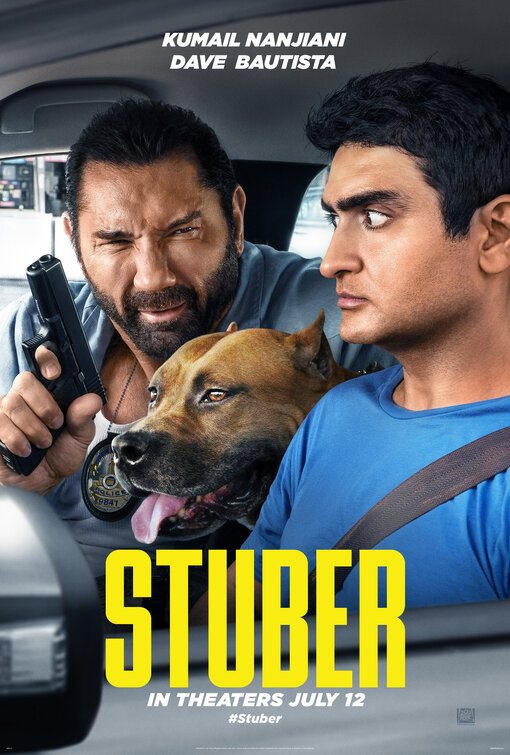 Stuber, playing in theaters starting July 12
