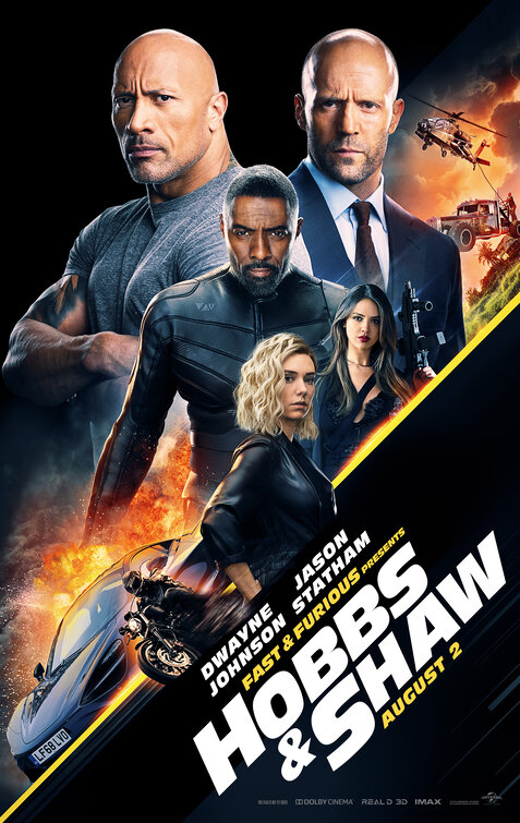Hobbs & Shaw, now playing in theaters