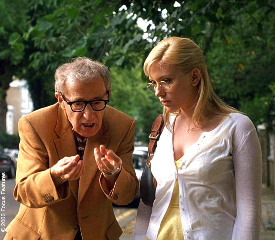 Woody Allen and Scarlett Johansson in Scoop