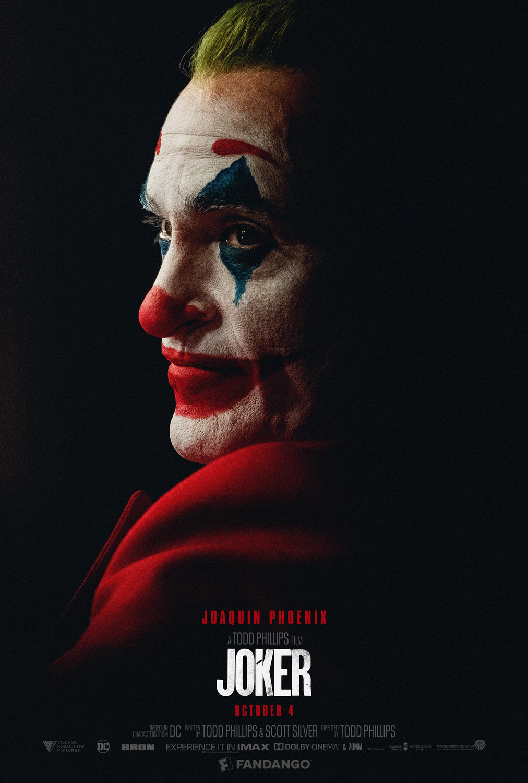 Joker movie poster starring Joaquin Phoenix