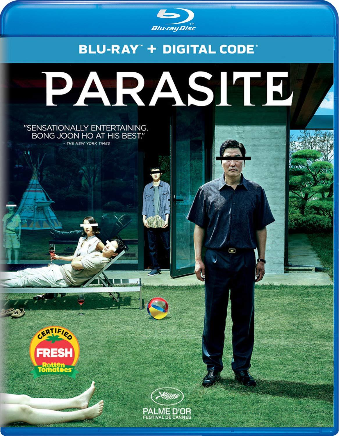 Parasite, now available to own on Blu-ray and Digital