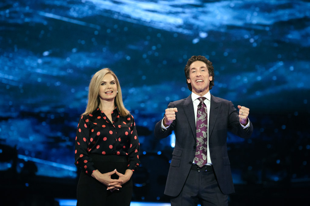 Victoria and Joel Osteen. Courtesy of Lakewood Church
