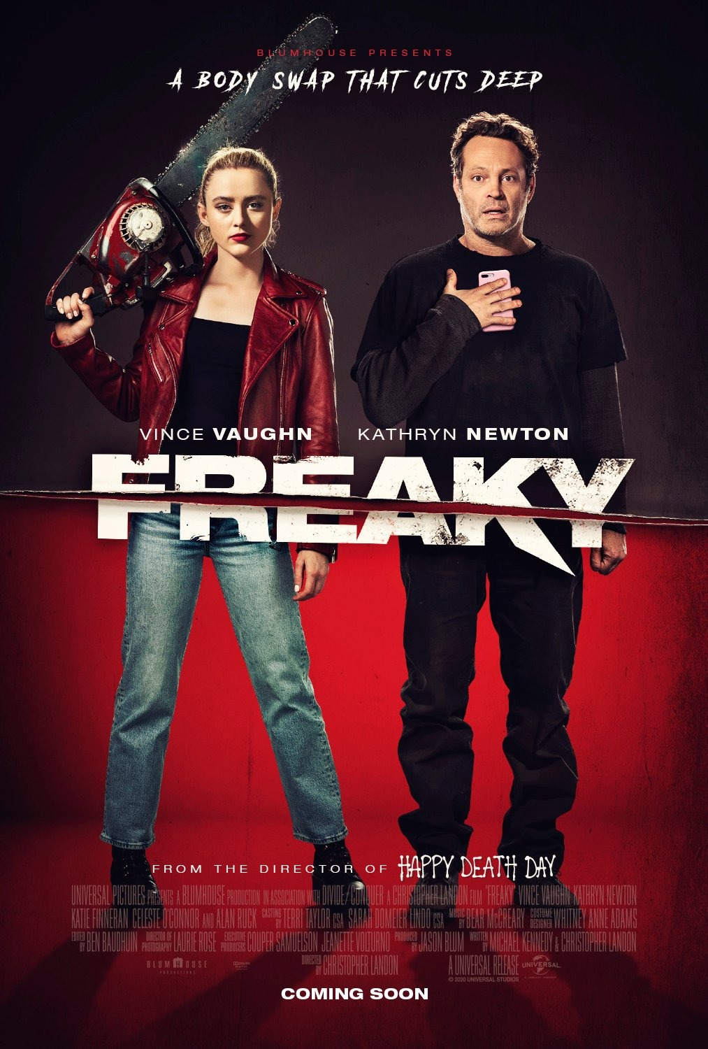 Freaky poster starring Vince Vaughn and Kathryn Newton