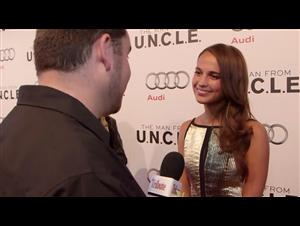 Exclusive: Alicia Vikander - The Man from U.N.C.L.E. Red Carpet Video Thumbnail