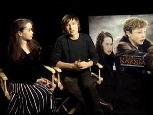 ANNA POPPLEWELL & WILLIAM MOSELEY - THE CHRONICLES OF NARNIA Interview Video Thumbnail