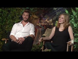 Chris Hemsworth & Jessica Chastain Interview - The Huntsman: Winter's War Video Thumbnail