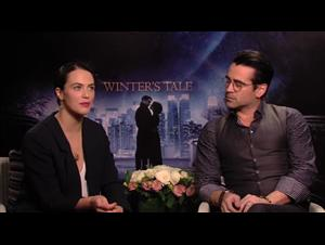 Colin Farrell & Jessica Brown Findlay (Winter's Tale) Interview Video Thumbnail