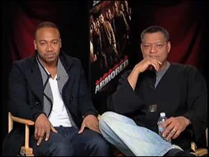 Columbus Short & Laurence Fishburne (Armored) Interview Video Thumbnail