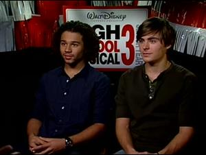 Corbin Bleu & Zac Efron (High School Musical 3: Senior Year) Interview Video Thumbnail