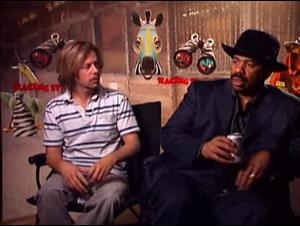 DAVID SPADE & STEVE HARVEY - RACING STRIPES Interview Video Thumbnail