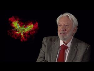 Donald Sutherland - The Hunger Games: Mockingjay - Part 2 Interview Video Thumbnail