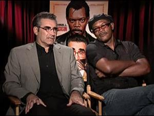 EUGENE LEVY & SAMUEL L. JACKSON - THE MAN Interview Video Thumbnail