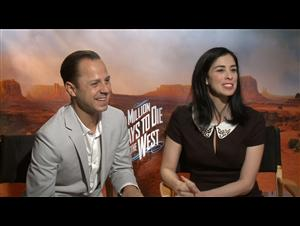 Giovanni Ribisi & Sarah Silverman (A Million Ways to Die in the West) Interview Video Thumbnail