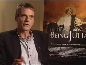 JEREMY IRONS - BEING JULIA Interview Video Thumbnail