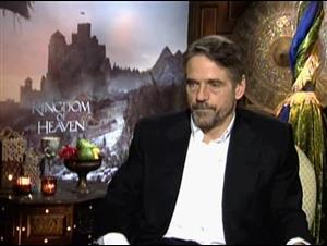 JEREMY IRONS - KINGDOM OF HEAVEN Interview Video Thumbnail