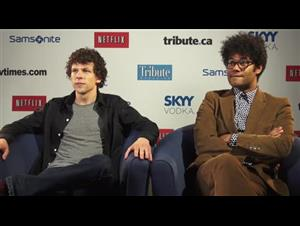 Jesse Eisenberg & Richard Ayoade (The Double) Interview Video Thumbnail