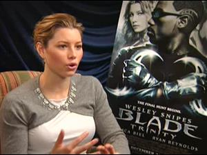 JESSICA BIEL - BLADE: TRINITY Interview Video Thumbnail