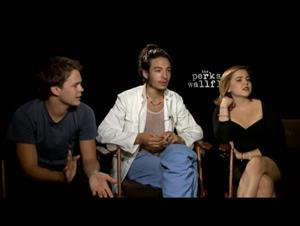Johnny Simmons, Ezra Miller & Mae Whitman (The Perks of Being a Wallflower) Interview Video Thumbnail