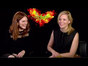 Julianne Moore & Elizabeth Banks - The Hunger Games: Mockingjay - Part 2 Interview Video Thumbnail