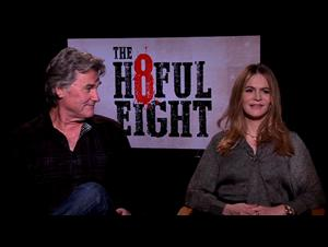 Kurt Russell & Jennifer Jason Leigh - The Hateful Eight Interview Video Thumbnail