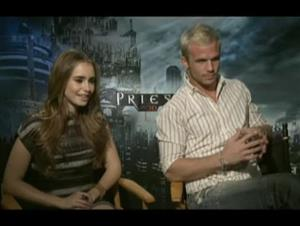 lilycollins_camgigandet_priest Interview Video Thumbnail