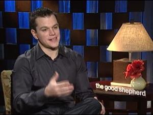 MATT DAMON (THE GOOD SHEPHERD) Interview Video Thumbnail