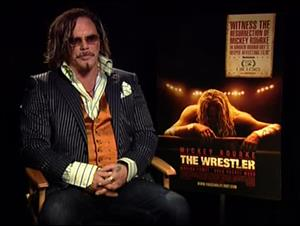 Mickey Rourke (The Wrestler) Interview Video Thumbnail