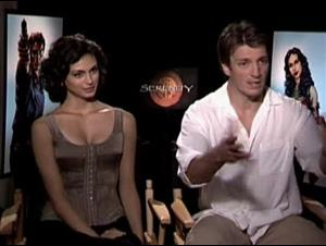 MORENA BACCARIN & NATHAN FILLION - SERENITY Interview Video Thumbnail