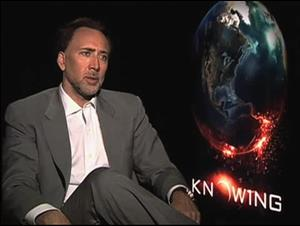 Nicolas Cage (Knowing) Interview Video Thumbnail