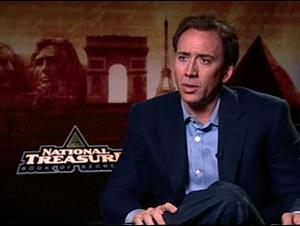 Nicolas Cage (National Treasure: Book of Secrets) Interview Video Thumbnail