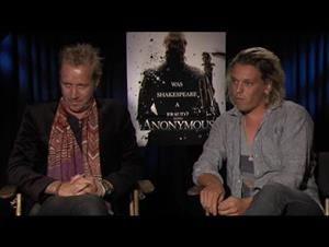Rhys Ifans & Jamie Campbell Bower (Anonymous) Interview Video Thumbnail