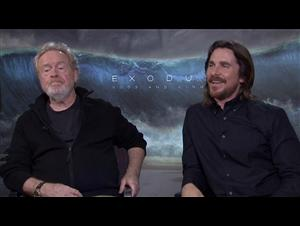 Ridley Scott & Christian Bale (Exodus: Gods and Kings) Interview Video Thumbnail