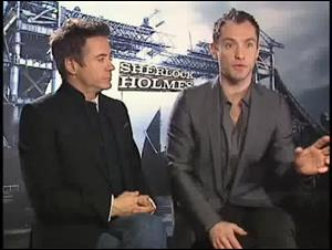 Robert Downey Jr. & Jude Law (Sherlock Holmes) Interview Video Thumbnail