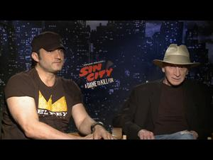 Robert Rodriguez & Frank Miller (Sin City: A Dame to Kill For) Interview Video Thumbnail