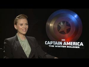 Scarlett Johansson (Captain America: The Winter Soldier) Interview Video Thumbnail