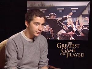 SHIA LABEOUF - THE GREATEST GAME EVER PLAYED Interview Video Thumbnail