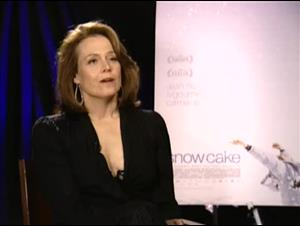 SIGOURNEY WEAVER (SNOWCAKE) Interview Video Thumbnail
